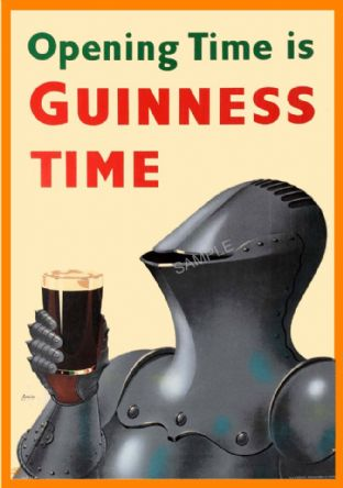 Vintage Guinness Poster Knight